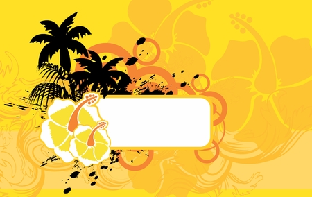 hibiscus tropical hawaii copyspace background in vectop format very easy to edit Illustration