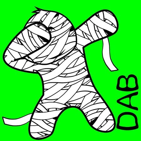 Dab dabbing pose mummy