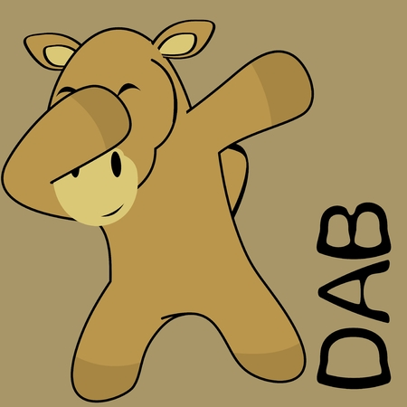 Dab dabbing pose camel