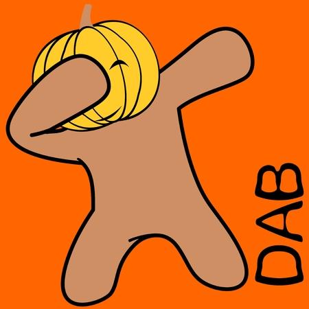 Dab dabbing pose pumpkin