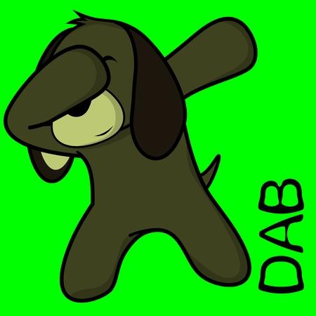 Dab dabbing pose dog