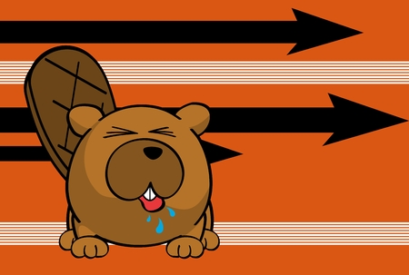 cute baby beaver ball style cartoon expression background in vector format very easy to edit Foto de archivo - 115189719