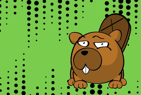 cute baby beaver ball style cartoon expression background in vector format very easy to edit Foto de archivo - 115189725