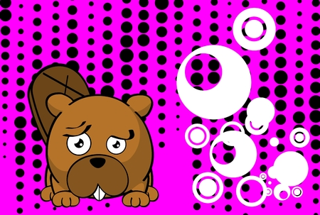cute baby beaver ball style cartoon expression background in vector format very easy to edit Foto de archivo - 115189727