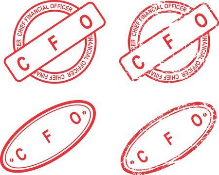 CFO red stamp acronym sticker collection