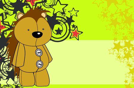 Cute plush porcupine toy  style cartoons