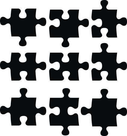 compatible: pi�ces de puzzle, fichier vectoriel tr�s facile � modifier, les objets