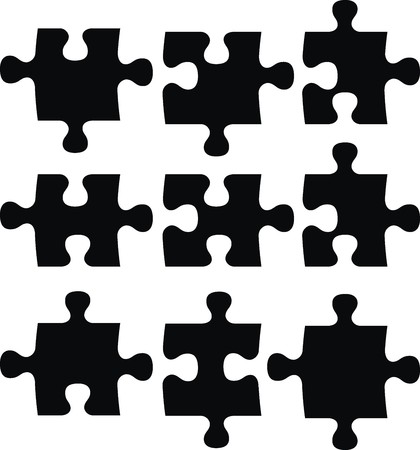 puzzle pieces, vector file very easy to edit, individual objects Ilustração
