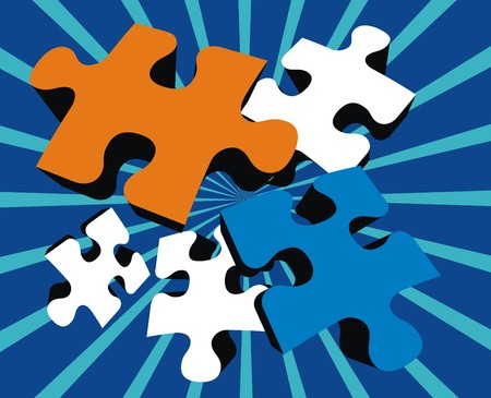 puzzle pieces, vector file very easy to edit, individual objects Banco de Imagens - 2481212