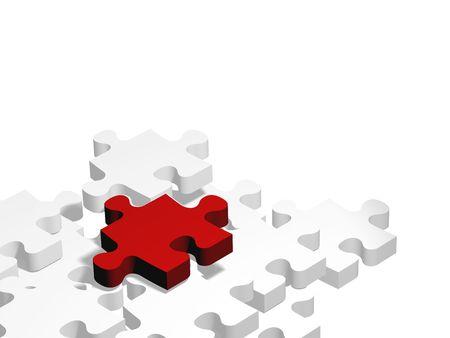 pieza de rompecabezas aplicable a diversos temas Stock Photo - 2544179