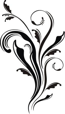 abstracto: adorno caligrafico en formato vectorial muy facil de editar Illustration