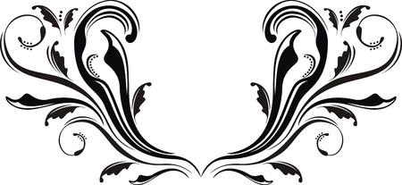 gotico: caligrafico adorno en formato vectorial muy facil de editar