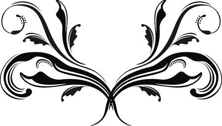 gotico: caligraficos AISLADOS adornos en blanco y negro  Vectores