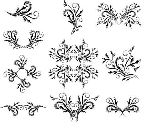 ornaments vector: Caligraphic serie di ornamenti formato vettoriale molto facile da modificare, i singoli oggetti