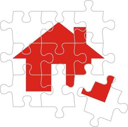 home group: puzzle pieces, vector file very easy to edit, individual objects Illustration