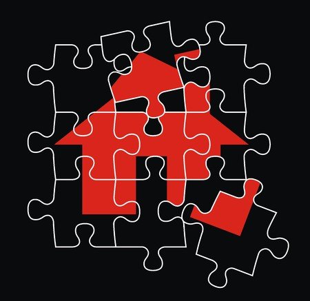 puzzle pieces, vector file very easy to edit, individual objects Stock fotó - 2756659