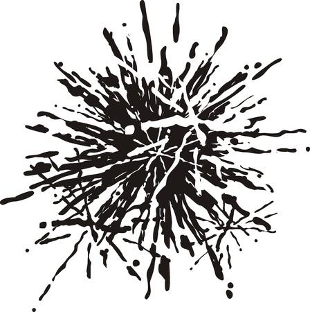 非常に簡単編集するベクトル形式で感嘆符インク  イラスト・ベクター素材