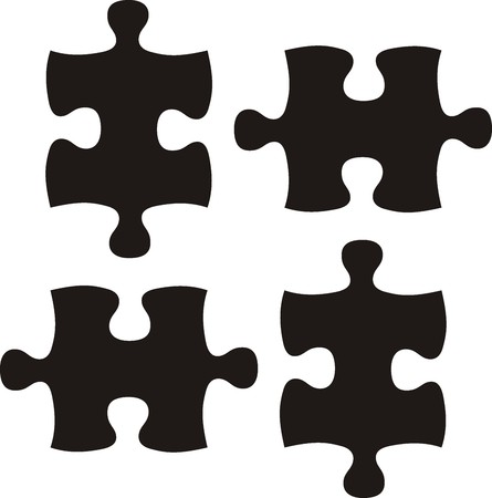 puzzle piece: piezas, archivo de vector muy f�cil de editar, cada uno de los objetos  Vectores