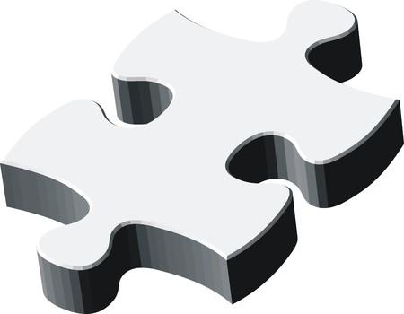 puzzel stuk, vector bestand zeer gemakkelijk te bewerken, afzonderlijke objecten