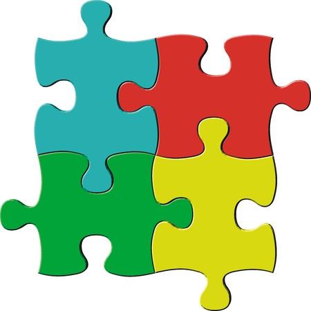 パズルのピースを非常に簡単に編集、個々 のオブジェクト ファイルをベクトル  イラスト・ベクター素材