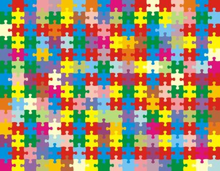 Puzzleteile, Vektor-Datei sehr einfach zu bearbeiten, zu einzelnen Objekten  Standard-Bild - 2767043