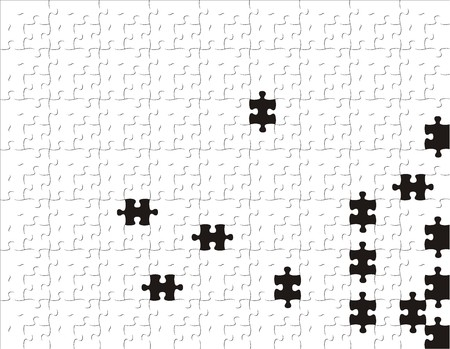 missing link: puzzle background, vector file very easy to edit, individual objects