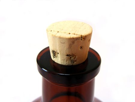 bottleneck: close up of bottleneck with cork Stock Photo