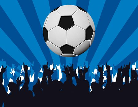 soccer fans background with copyspace Stock Photo