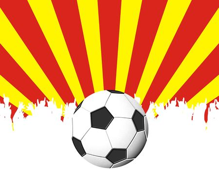 soccer fans background with copyspace photo