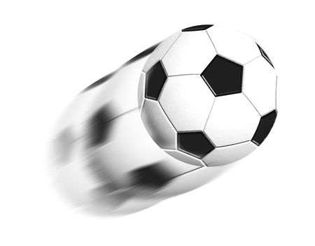soccer ball background with copyspace Stock Photo - 3146103