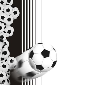 soccer ball background with copyspace Stock Photo - 3146219