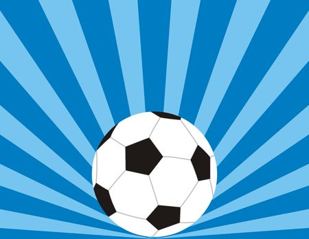 soccer ball background with copyspace photo