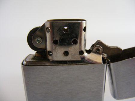 butane: metallic cigarette lighter