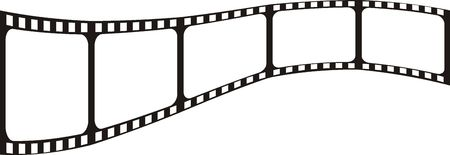 vector file, film shape very easy to edit photo