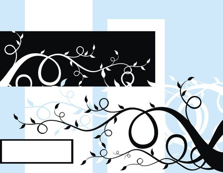 coy: floral background adornment with coy space, individual objects very easy to edit Stock Photo