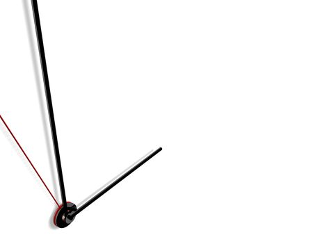 high quality 3d render of a clock, isolated and applicable to several concepts