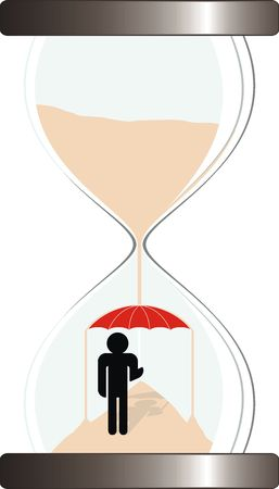 metaphor image, time protect,vector file very easy to edit