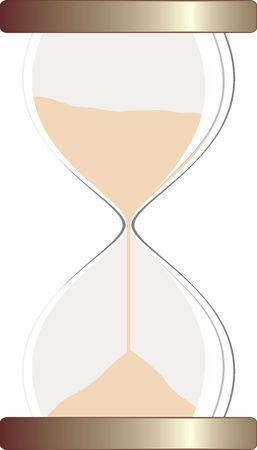 isolated hourglass, vector file very easy to edit Stock Photo