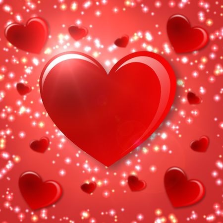 finial: Valentines day background whit one red heart