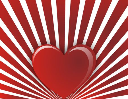 endearment: Valentines day background whit one red heart