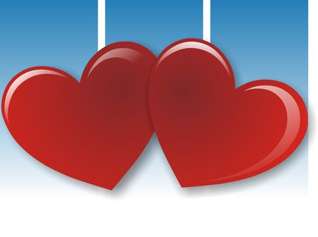 finial: Valentines day background whit two red heart