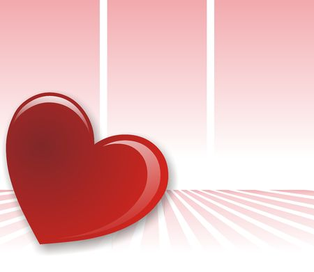 Valentines day background whit one red heart