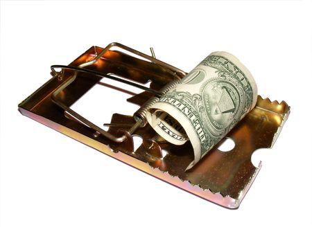 metaphoric image showing extreme method to save money Stock Photo - 3214494