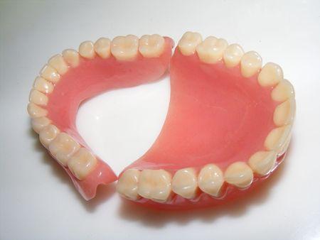 Photo d'un dentier Banque d'images - 3481872