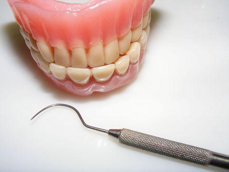 molars: imagen de una falsa dientes  Foto de archivo