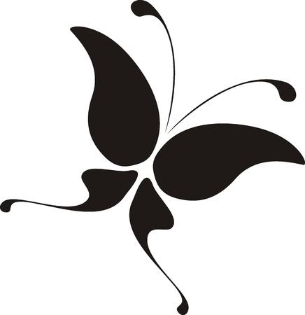 papillon dessin: isol� papillon tr�s facile � modifier Illustration