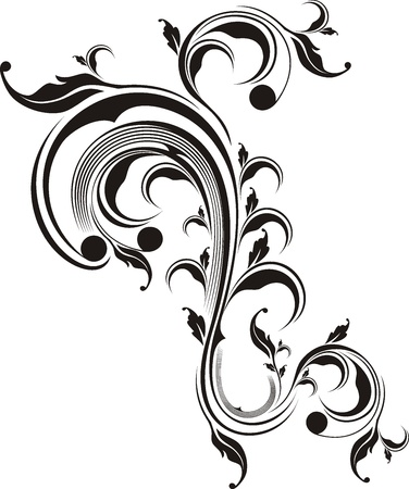 decoration: vector floral ornament very easy to edit