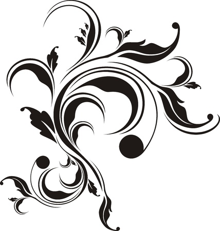 ornament vector: vector floral ornament very easy to edit