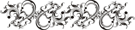 tattoo design: vector floral ornaments very easy to edit