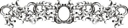 vector floral ornamental frame very easy to edit